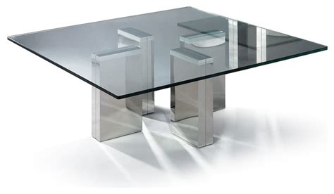modern square glass coffee table urbino modern coffee