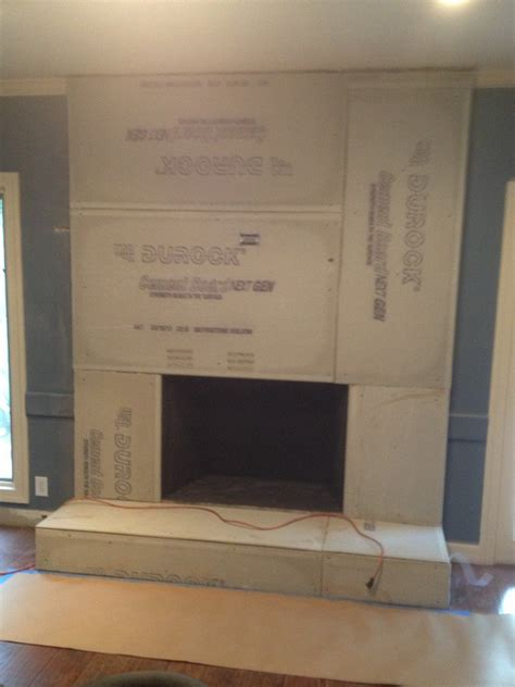 Fireplace Cement Board by Diy Concrete Fireplace For Less Than 100 Designer Trapped