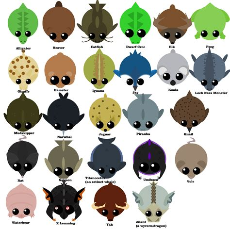 mope io mope io a z of custom animals they all work in game
