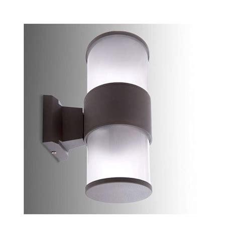 apliques exteriores de pared aplique pared exterior de 2 bombillas e27 gris negro ip65