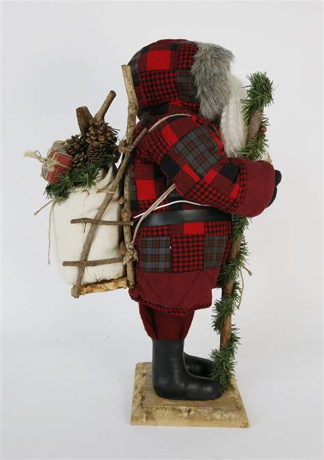 large adirondack santa claus christmas figure large
