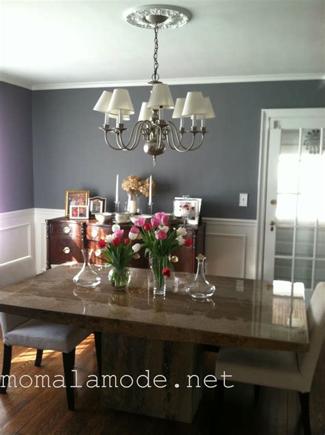 Best Behr White Paint Gray Dining Room Finished Mom A La Mode