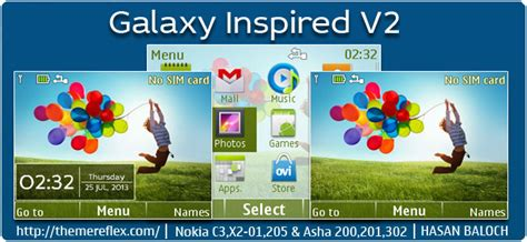 galaxy themes for nokia c3 galaxy blue themereflex