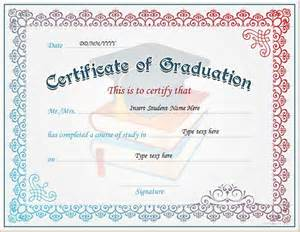 Templates For Graduation Certificates by Graduation Certificate Templates For Ms Word