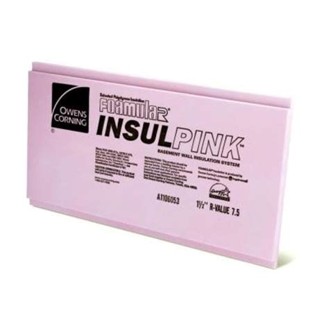 Home Depot Foam Board by Owens Corning Foamular 1 1 2 In X 2 Ft X 8 Ft R 7 5