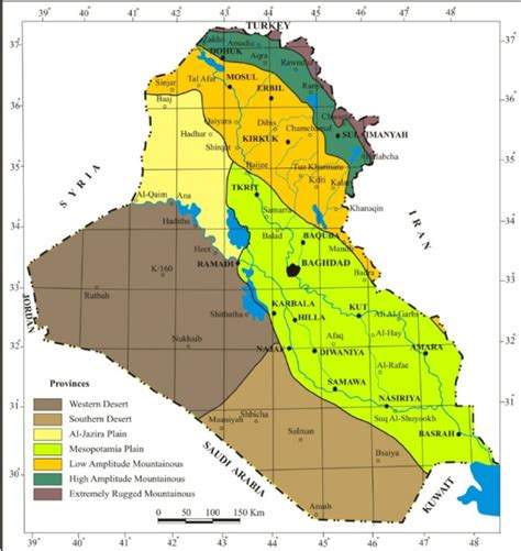 geological map of iraq physiographic provinces map of iraq 2