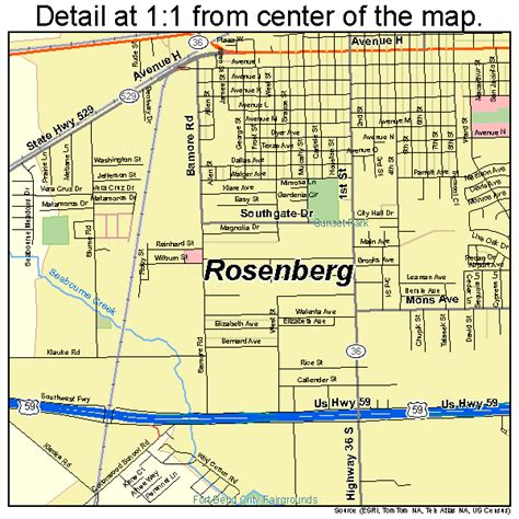 map of rosenberg texas rosenberg texas map 4863284