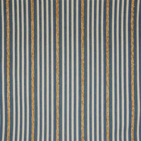 Marina Blue Stripe Upholstery Fabric