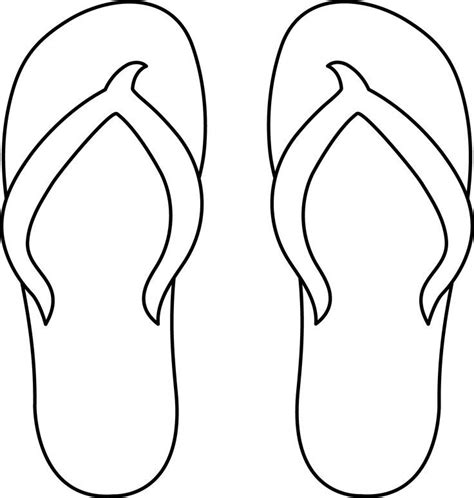 template of flip flops colorable flip flops malb 246