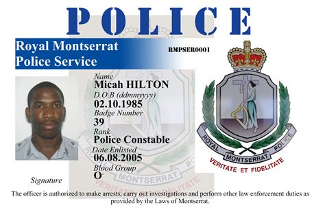 officer id card templates government id cards images