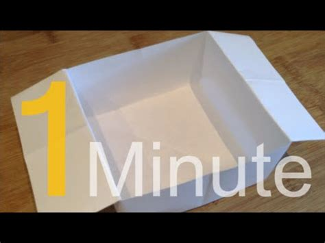 How To Make A Box Using Paper - how to make a box out of a4 paper in one minute
