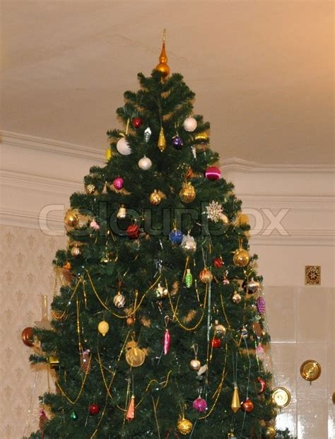 new year tree photo the new year tree in russia stock photo colourbox