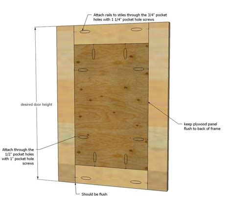 how to build simple shaker cabinet doors with kreg jig and