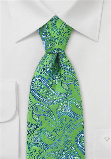 modern bright green paisley tie ties shop paisley