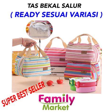 Luch Bag Cooler Bag Motif Salur tas bekal motif salur lunch bag cooler bag termurah