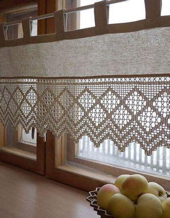 las cortinas  crochet  cocina como  las  imaginado crochet cortinas tejidas