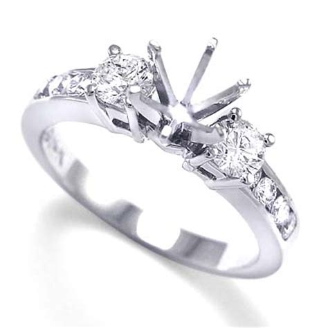 anzor jewelry 14k white gold engagement ring