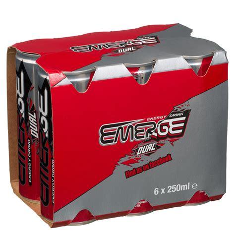 6 energy drink emerge dual energy drink 6 x 250ml groceries