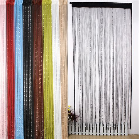 chain curtains for doors 1pc chain beaded string door window curtain panel tassel