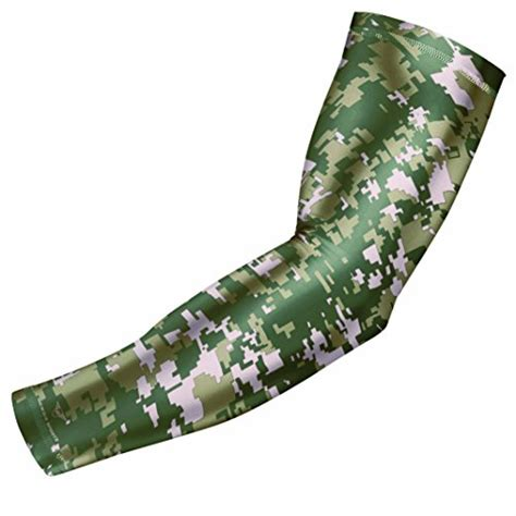 St 2pc Army Green Yellow sports compression arm sleeve youth sizes baseball football basketball by bucwild
