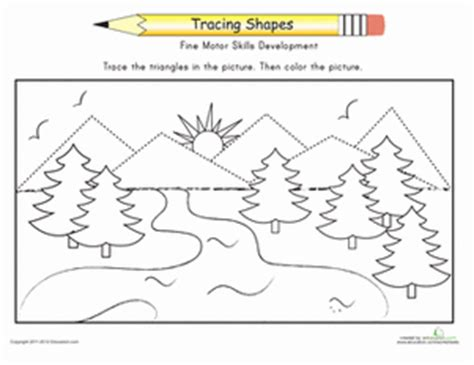 Mountain Pattern Worksheet For Nursery | complete the mountains worksheet education com