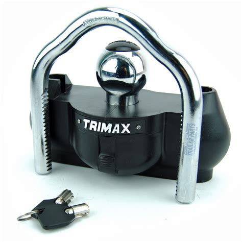 trailer tongue lock trimax universal boat trailer coupler tongue hitch lock