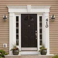 Exterior Door Pediment And Pilasters Focal Point Decorative Architectural Entry Systems