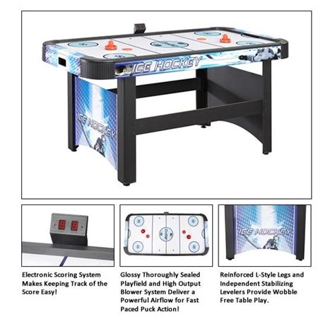 hathaway air hockey table with electronic scoring 5 hathaway 5 air hockey table with electronic scoring