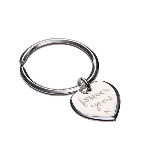 personalised sterling silver key ring by merci maman