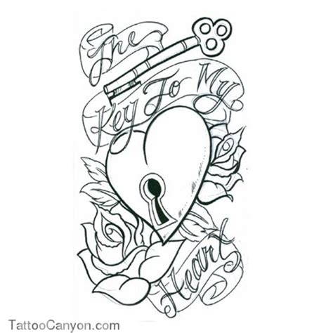 heart tattoo designs with banner with banner and drawings get picture s