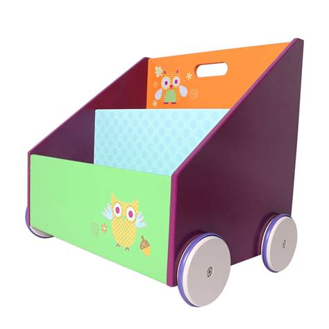 On Wheels by Wooden Bookcase On Wheels Owl Delights