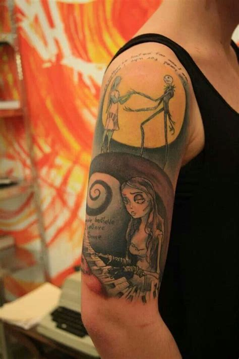 jack skellington and sally tattoos 1000 images about skellington tattoos on