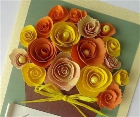 How To Make Paper Flowers For Greeting Cards - blooming greetings 3d flower card allfreepapercrafts