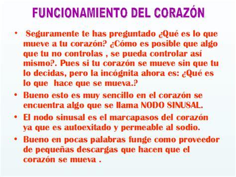 Resumen O Corazon De Xupiter by El Coraz 243 N Su Funcionamiento Y Algunas Cardiopat 237 As