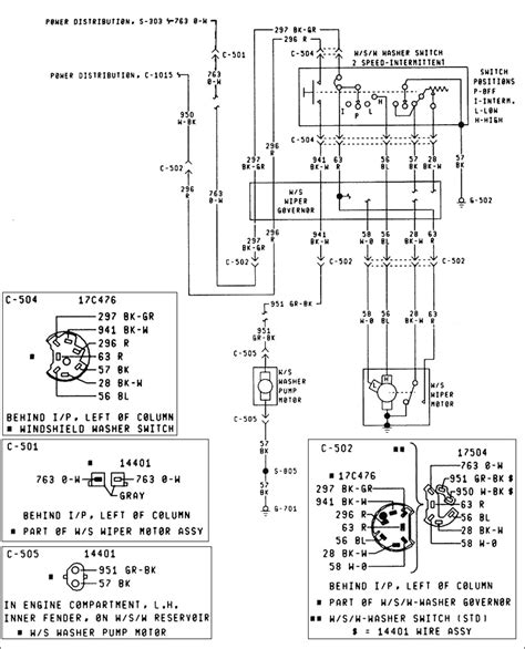 wiper motor wiring diagram 2004 replacement parts and