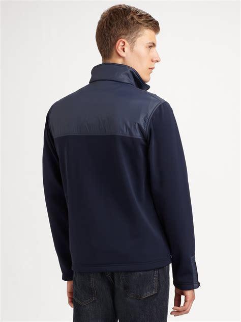 Jaket Fleece Sweater Insight Navy lacoste fleece jacket in blue for lyst