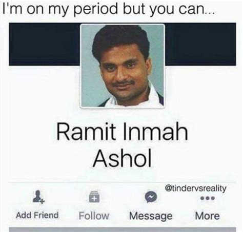 Funny Name Meme - im on my period funny facebook name