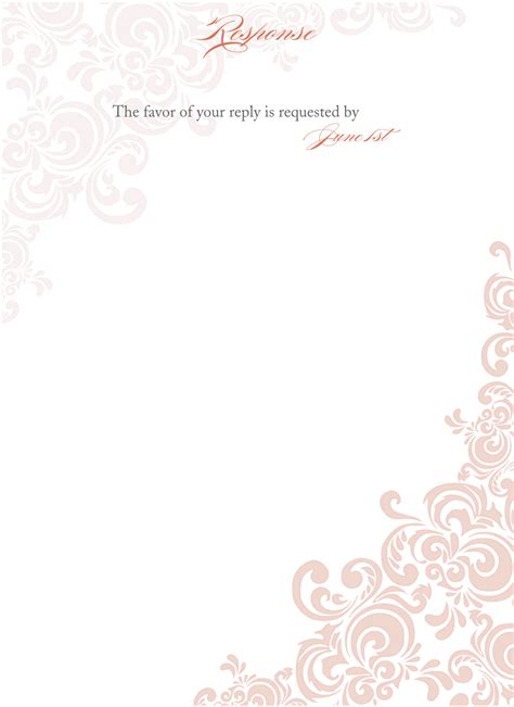 invitation formats templates floral blank wedding invitation templates