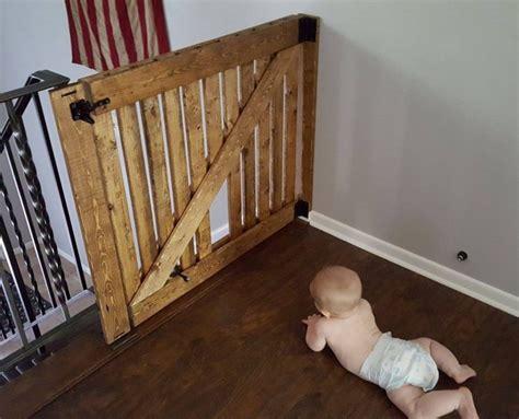 Diy Barn Door Baby Gate With Pet Door Instructions Diy Barn Door Baby Gate