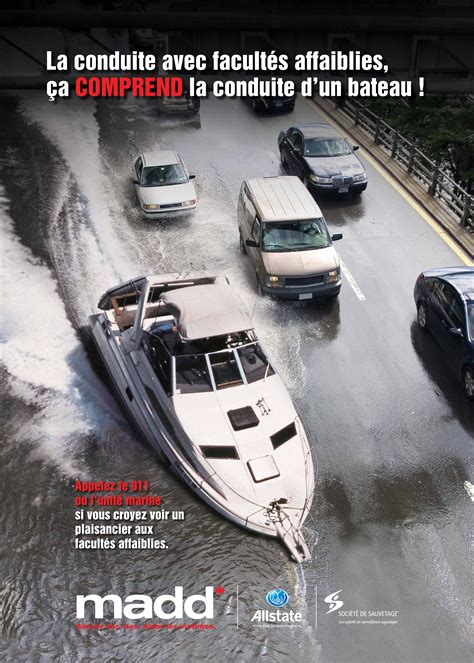 boat licence drink driving caign 911 madd canada