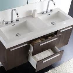 54 Vanity Sink by 54 Quot Opulento Sink Vanity Gray Oak With Medicine