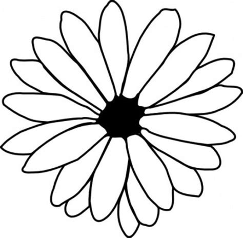 traceable flower outlines clipart best clipart best