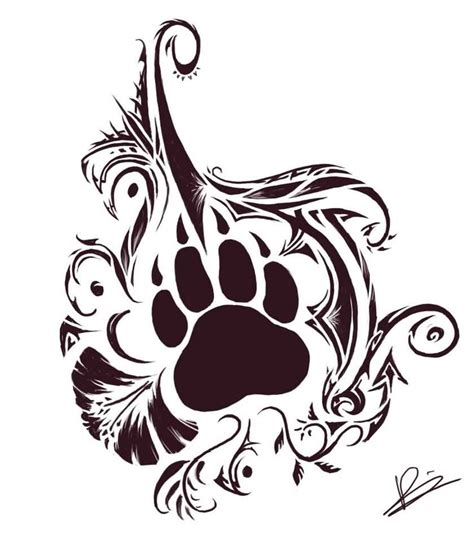 bear paw tribal tattoo 25 tribal animal designs
