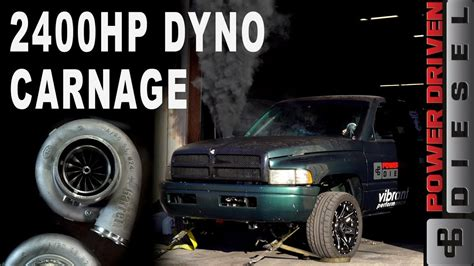 hp dyno carnage power driven diesel youtube