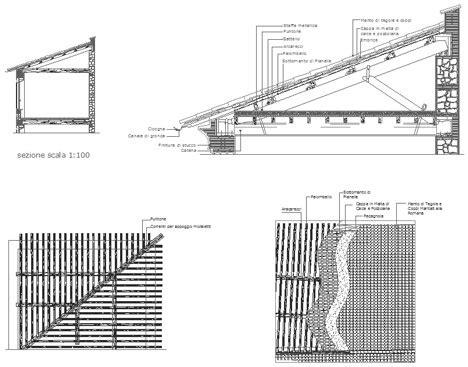 disegno tettoia in legno tetti in legno dwg roof dwg