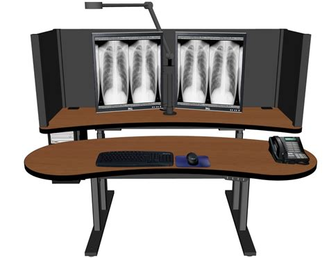Reading Room Furniture Pacs Desk Radiology Furniture Imaging Furniture Tom