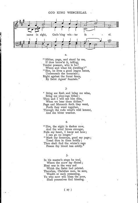 christmas carol lyrics good king wenceslas ichild good king wenceslas
