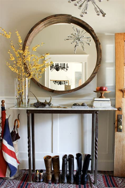Hallway Table With Mirror Mirror And Console Table Revealed The Marion House Book