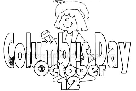 columbus coloring page columbus day coloring child