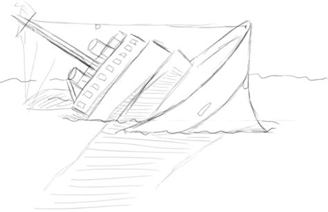 how to draw a boat sinking drawing of a sinking ship google search we heart it